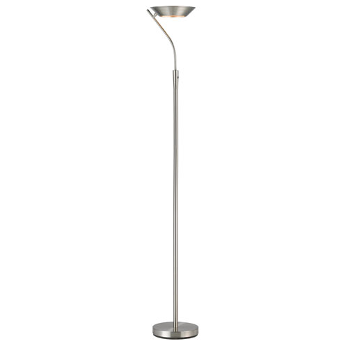 Saturn Brushed Steel One-Light LED Torchiere