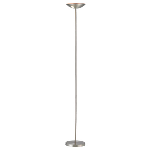 Mars Brushed Steel One-Light LED Torchiere