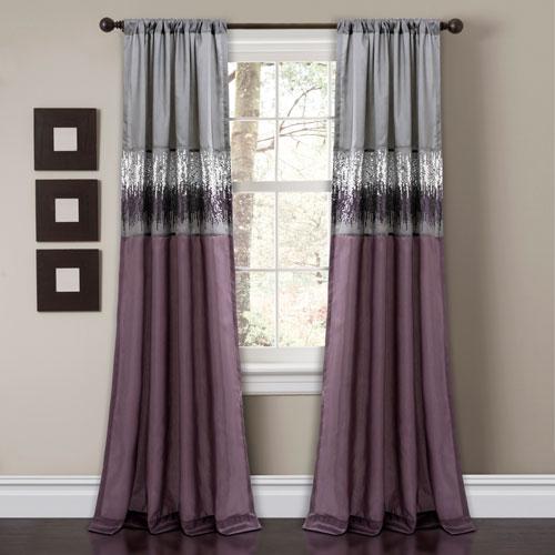 Night Sky Purple 84 x 42 In. Single Window Panel