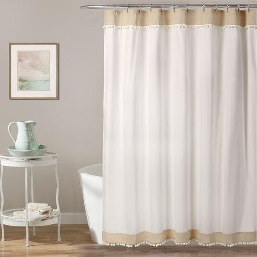 Adelyn Pom Pom 72 In. Shower Curtain