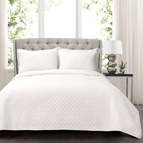 Ava Diamond Full/Queen Three-Piece Oversized Cotton Quilt Set