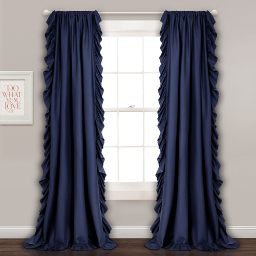 Reyna Navy 84 x 54 In. Window Curtain