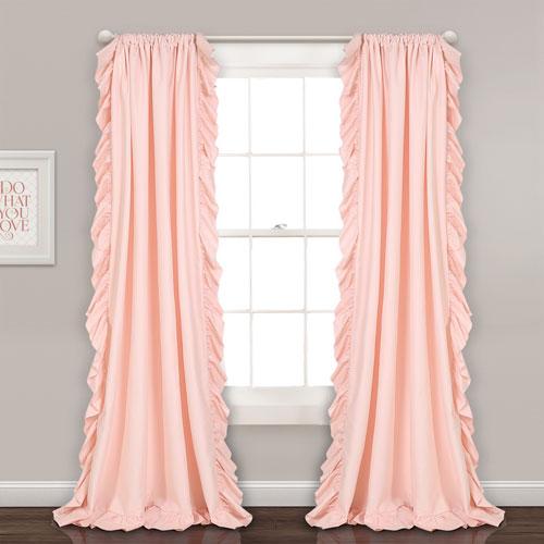 Reyna Blush Pink 84 x 54 In. Window Curtain