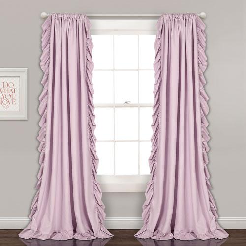 Reyna Lilac 84 x 54 In. Window Curtain