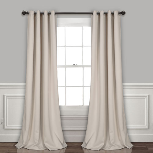 Wheat 84 x 52 In. Insulated Grommet Blackout Curtain Panel Set