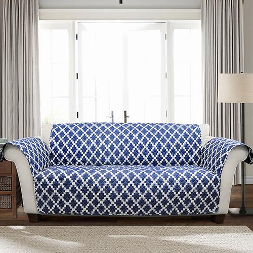 Wellow Ikat Navy Single Love Seat Furniture Protector