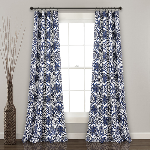 Marvel Navy 84 x 52 In. Room Darkening Curtain Panel Set