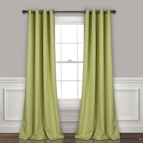 Sage 84 x 52 In. Insulated Grommet Blackout Curtain Panel Set