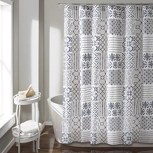 Lush Decor Monique Blue 72 In Shower Curtain