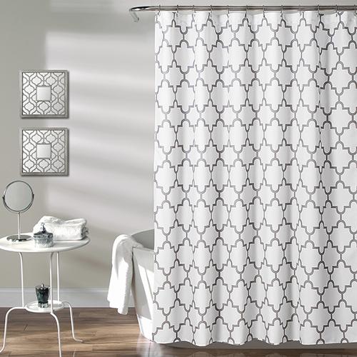 Bellagio Gray 72 In. Shower Curtain