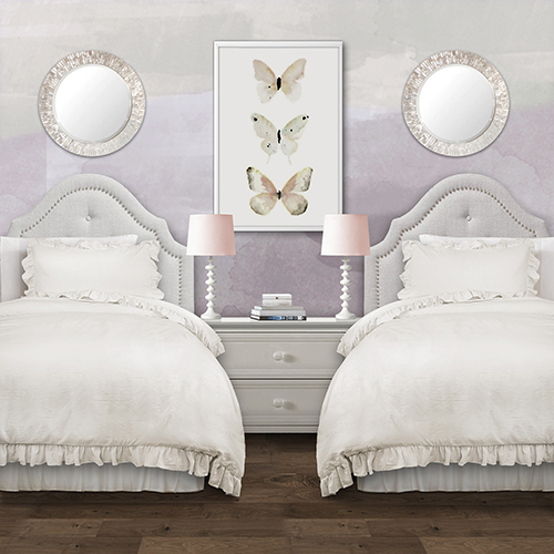 Reyna White Twin XL Two-Piece Comforter Set
