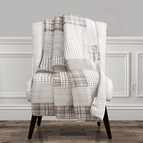 Greenville Taupe Throw
