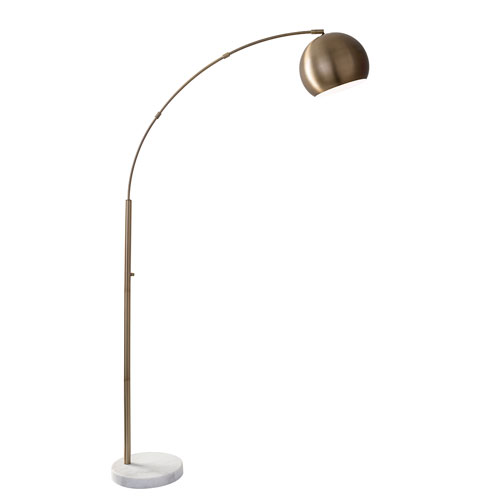 Astoria Antique Brass One-Light Arc Floor Lamp