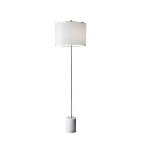 Brushed Steel One-Light Floor Lamp