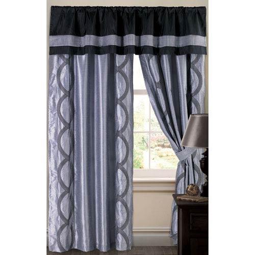 Lush Decor Talon Curtain Panel Gray 84-Inch
