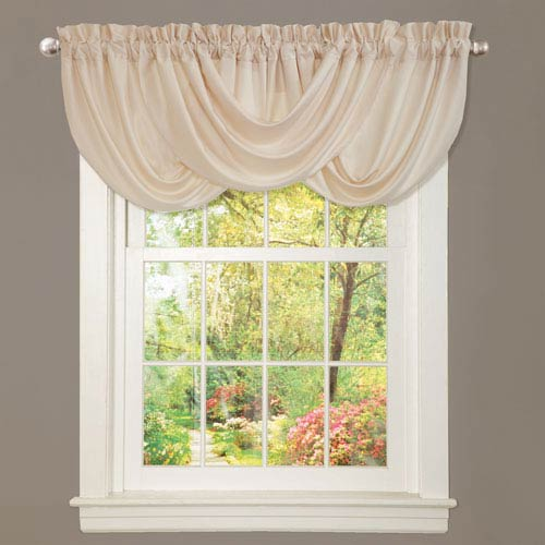 Lucia Ivory 18-Inch x 42-Inch Valance