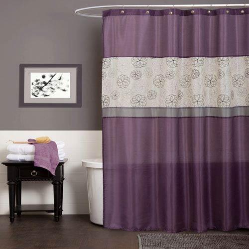 Covina Purple Shower Curtain