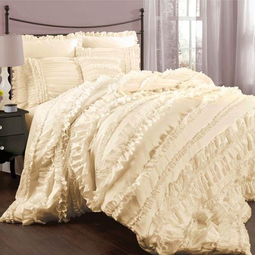 Belle Ivory King Size Comforter Sets