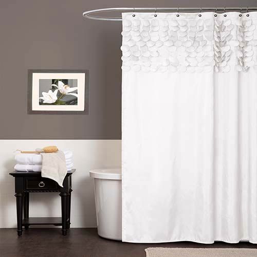 Lillian White Shower Curtain