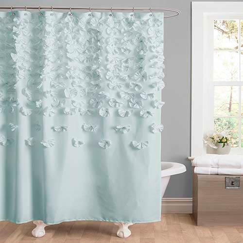 Lucia Blue Shower Curtain