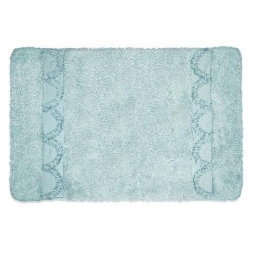 Esme Spa Blue Rectangular: 1 Ft 8 In x 2 Ft 6 In Bath Rug