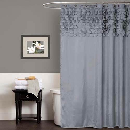 Lush Decor Lillian Gray Shower Curtain