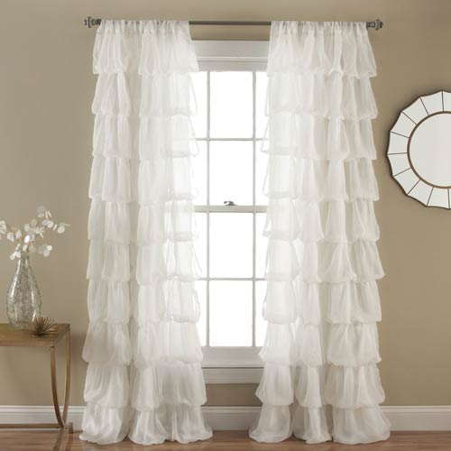 Olivia Off-White 84 x 50 In. Window Curtain Panel
