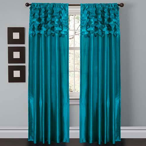 Lush Decor Circle Dream Turquoise 84 x 54-Inch Window Curtain Panel Pair