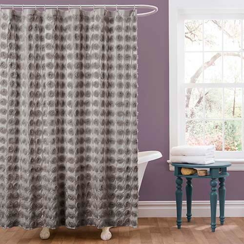 Emma Gray Shower Curtain