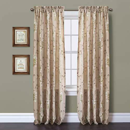Roslyn Linen 84 x 50 In. Window Curtain Panel