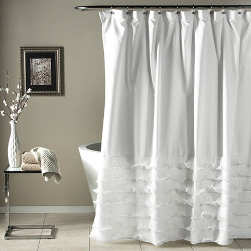 Avery White 72 x 72-Inch Shower Curtain