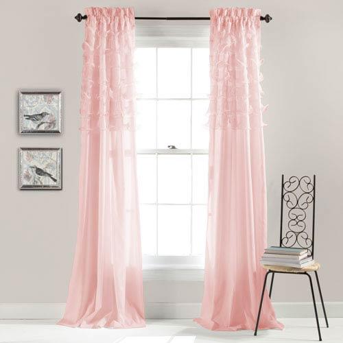 Avery Pink 84 x 54-Inch Window Curtain Panel Pair