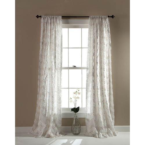 Lush Decor Giselle Ivory 54 x 84-Inch Window Single Panel