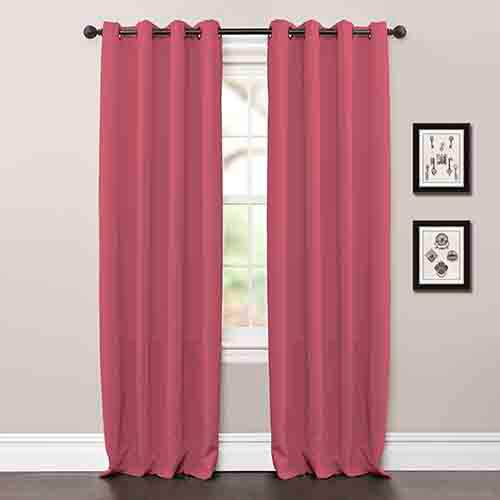 Lush Decor Jamel Pink 84 x 52-Inch Blackout Curtain Panel Pair