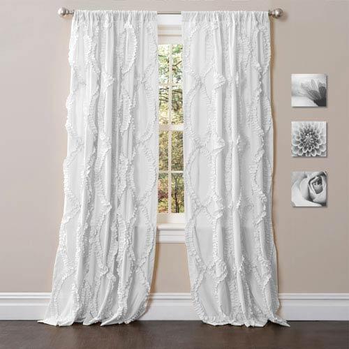 Lush Decor Avon White 84 x 54-Inch Window Curtain Single Panel