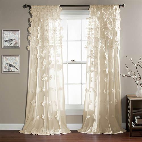 Riley Ivory 84 x 54-Inch Curtain Single Panel
