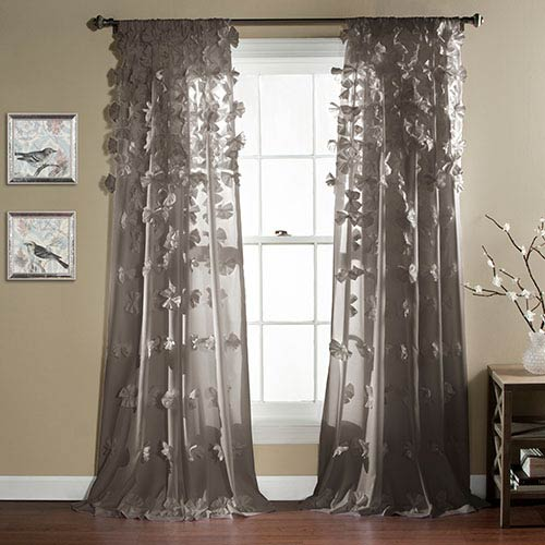 Riley Gray 84 x 54-Inch Curtain Single Panel