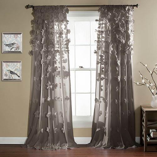 Riley Gray 84 x 54-Inch Curtain Single Panel