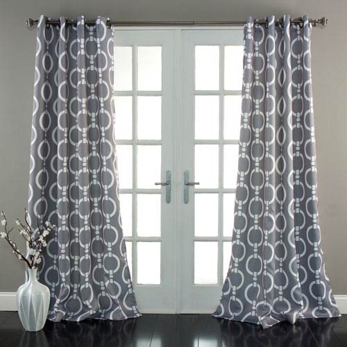 Chainlink Gray 84 x 52-Inch Curtain Panel Pair