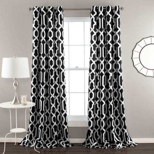 Edward Black 84 x 52-Inch Curtain Panel Pair