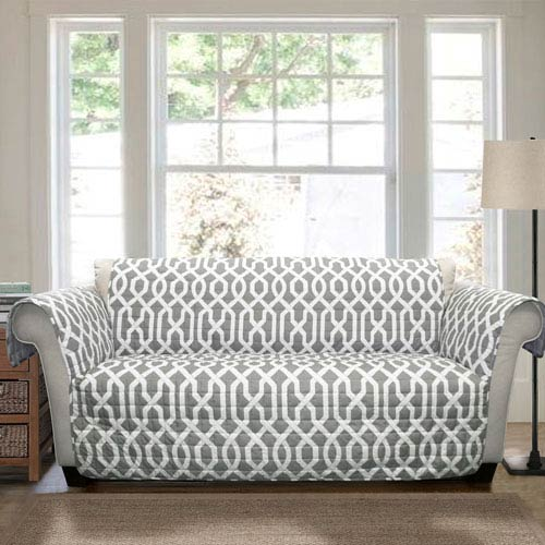 Edward Trellis Gray Loveseat Furniture Protector