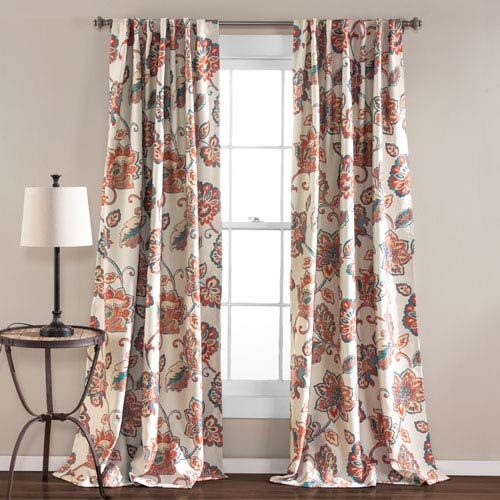 Aster Ivory 84 x 52-Inch Window Curtain Set