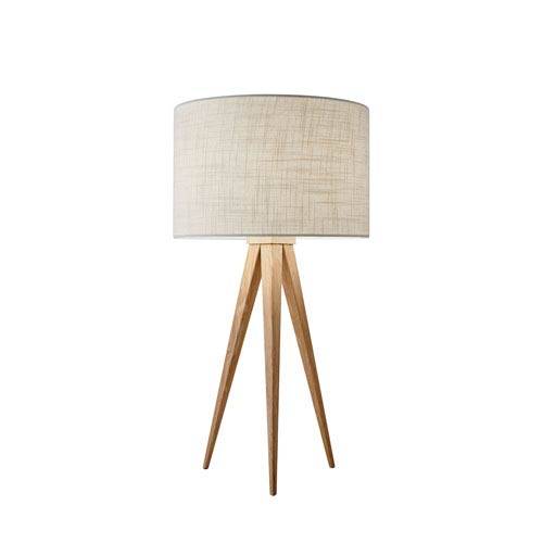 Natural wood base table lamp bellacor adesso natural wood one light table lamp aloadofball Choice Image