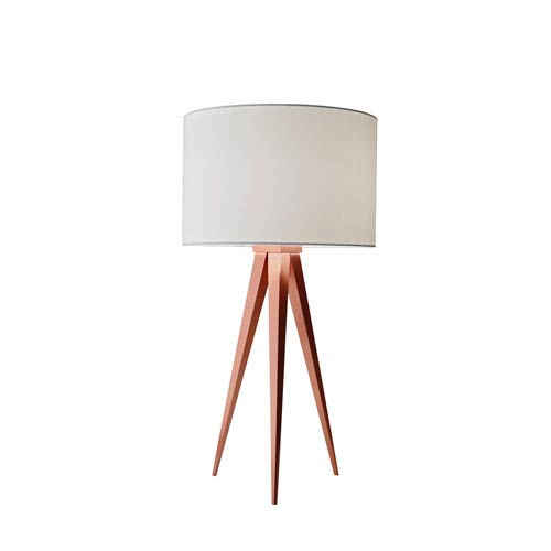 Brushed Copper One-Light Table Lamp