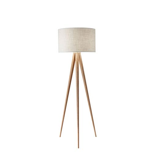 Adesso Natural Wood One Light Floor Lamp