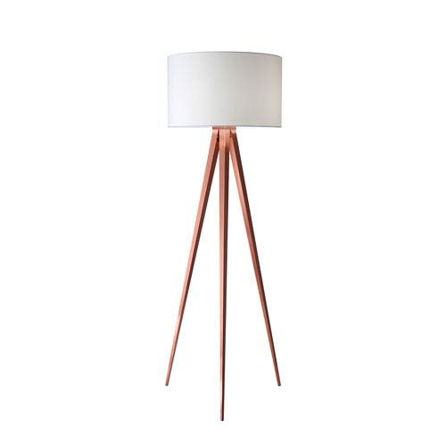 Adesso Brushed Copper One-Light Floor Lamp