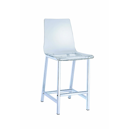 Chrome and Transparent Counter Stool