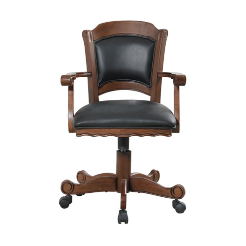 Coaster Furniture Turk Arm Game Chair with Casters and Leatherette Seat and Back