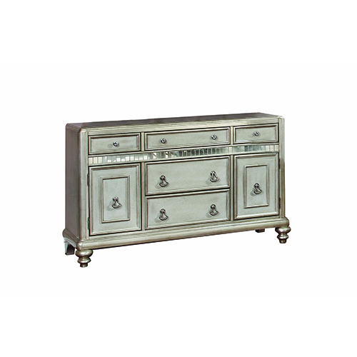 Metallic Platinum Game 5-drawer Dining Server