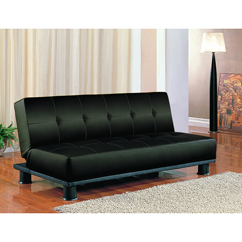 Black Convertible Upholstered Sofa Bed